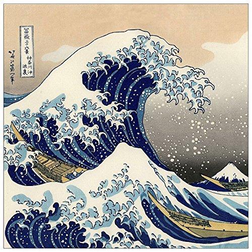 ArtPlaza Hokusai Katsushika a Big Wave off Kanagawa Pannello Decorativo, Legno,, 50x50 cm Eclissi AS90007