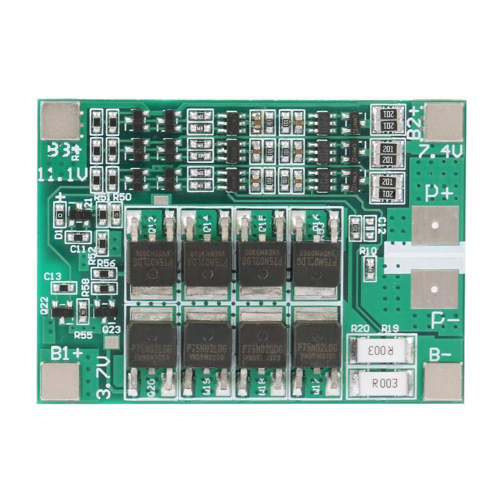 Panneau de Protection de Batterie au Lithium, Keenso Panneau de Carte PCB BMS de 3S 12V 40A avec le Chargement de Balance Carte de Protection de Batterie