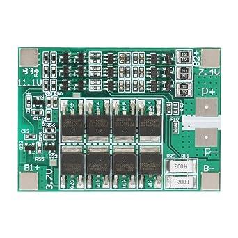 FTVOGUE Placa de protección de batería 3S 12V 40A Placa de protección de cargador de batería de litio BMS Placa PCB con carga de equilibrio
