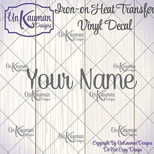 Amazon diyon on heat transfer vinyl personalized name diyon on heat transfer vinyl personalized name decal solutioingenieria Choice Image
