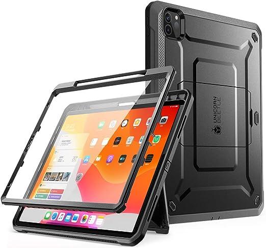 Supcase Hülle Für Ipad Pro 12 9 Zoll 2020 Bumper Case 360 Grad Schutzhülle Support Apple Pencil Laden Unicorn Beetle Pro Mit Displayschutz Schwarz Elektronik