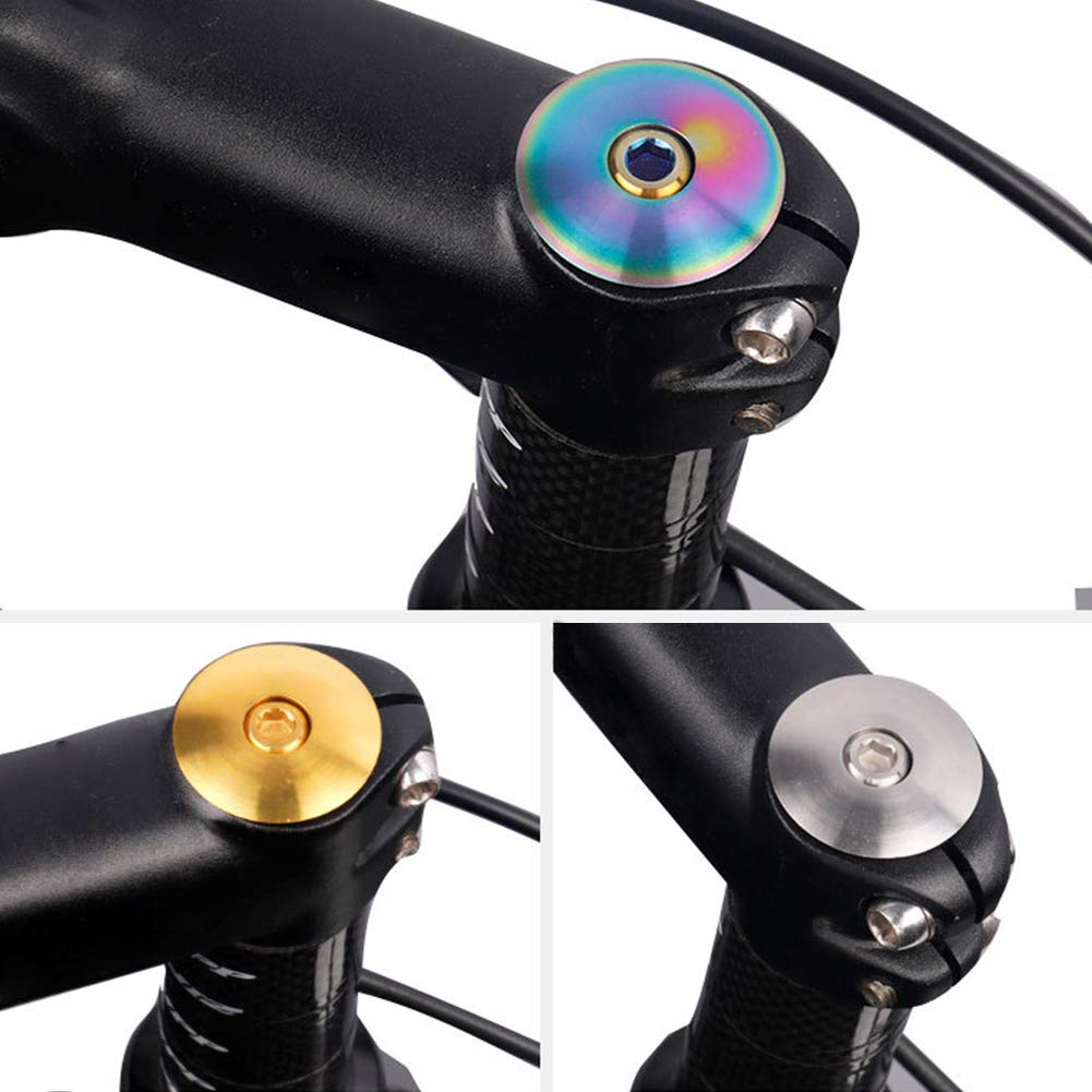 1 Set Bicycle Stem Cap,Titanium with Screw M6x30 Headset Cover Dustproof Protective MTB Bike Parts Bolt Professional Repair Cycling Accessories