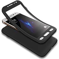 Coque Samsung Galaxy J2 Pro 2018 Ultra Mince Silicone TPU 360 degrés de protection+Protecteur d'écran en verre tempéré 2 e 1 360 degrés Full Body Protection Flexible Soft Gel Bumper Protective Case