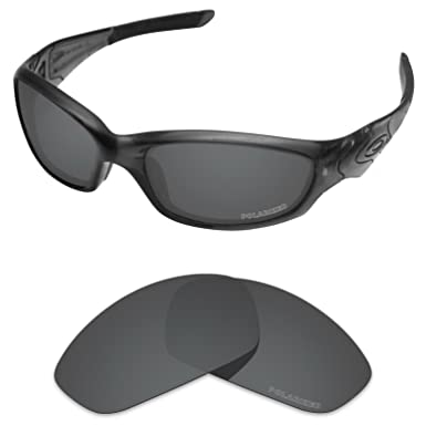 1c7182320f1 Tintart Performance Lenses Compatible with Oakley Straight Jacket 2007  Polycarbonate Polarized Etched-Carbon Black