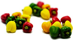 21 Psc Sweet Pepper Vegetable Dollhouse Miniatures Food Kitchen by Cool Price