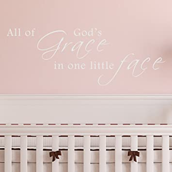 Amazoncom All Of Gods Grace In One Little Face Vinyl Wall Decal