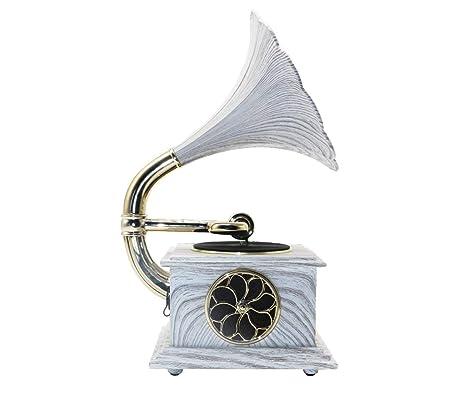 Mini Modelo Metal Fonógrafo Gramófono Tocadiscos Música Dinámica ...