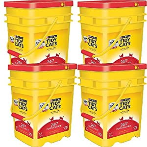 Purina Tidy Cats Clumping Litter 24/7 Performance for Multiple Cats 35 lb. Pail (35 lb - 4 pail) 77