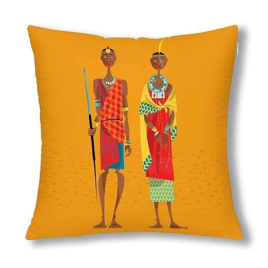 Kinhevao Pareja étnica Africana de Maasai en la Ropa ...