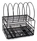 EasyPAG Mesh Desk File Organizer Tray with 5 Sorter Drawer, Black