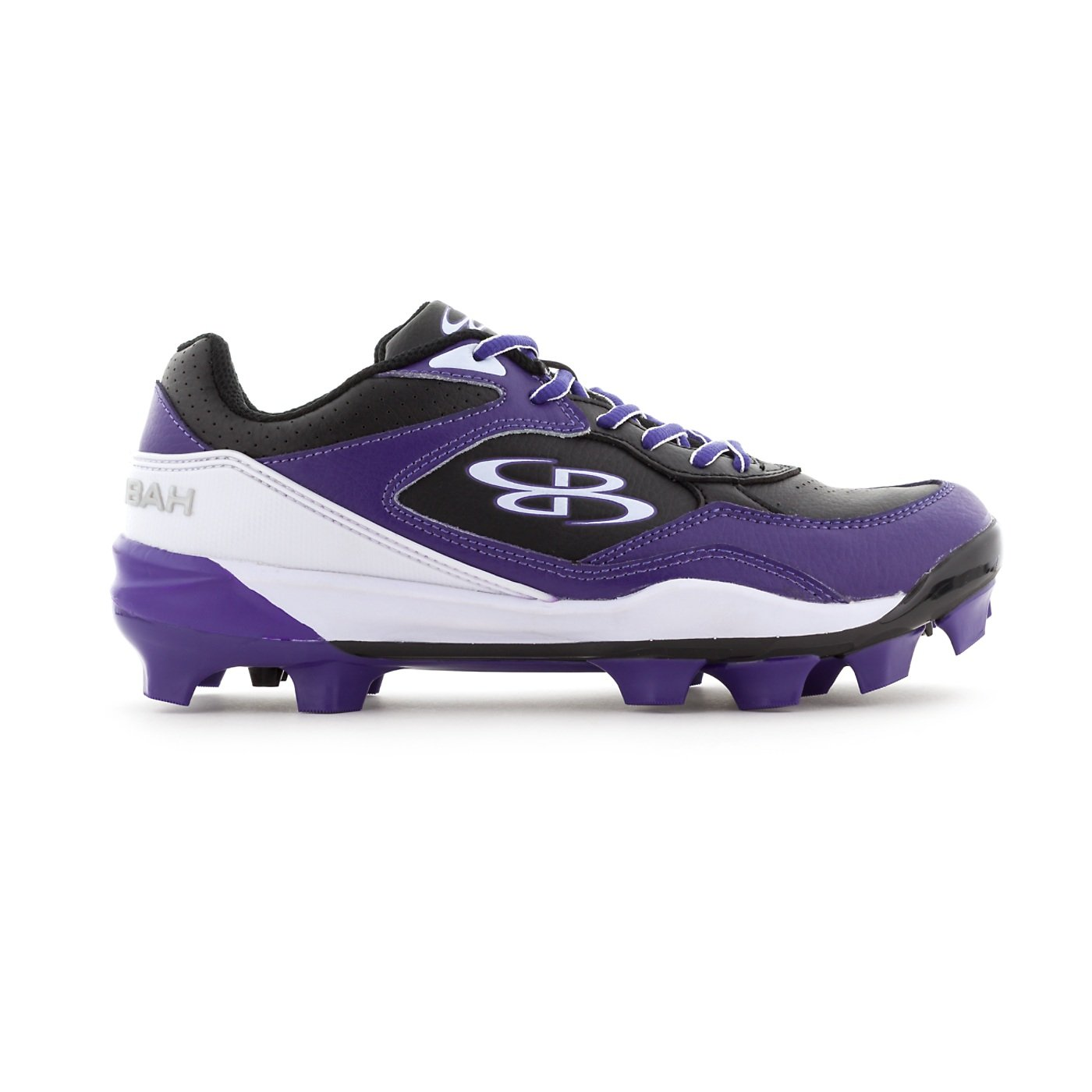 Boombah Women's Endura Molded Cleats Black/Purple - Size 8.5