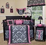 Musical-Mobile-for-Rose-Damask-Baby-Bedding-Set