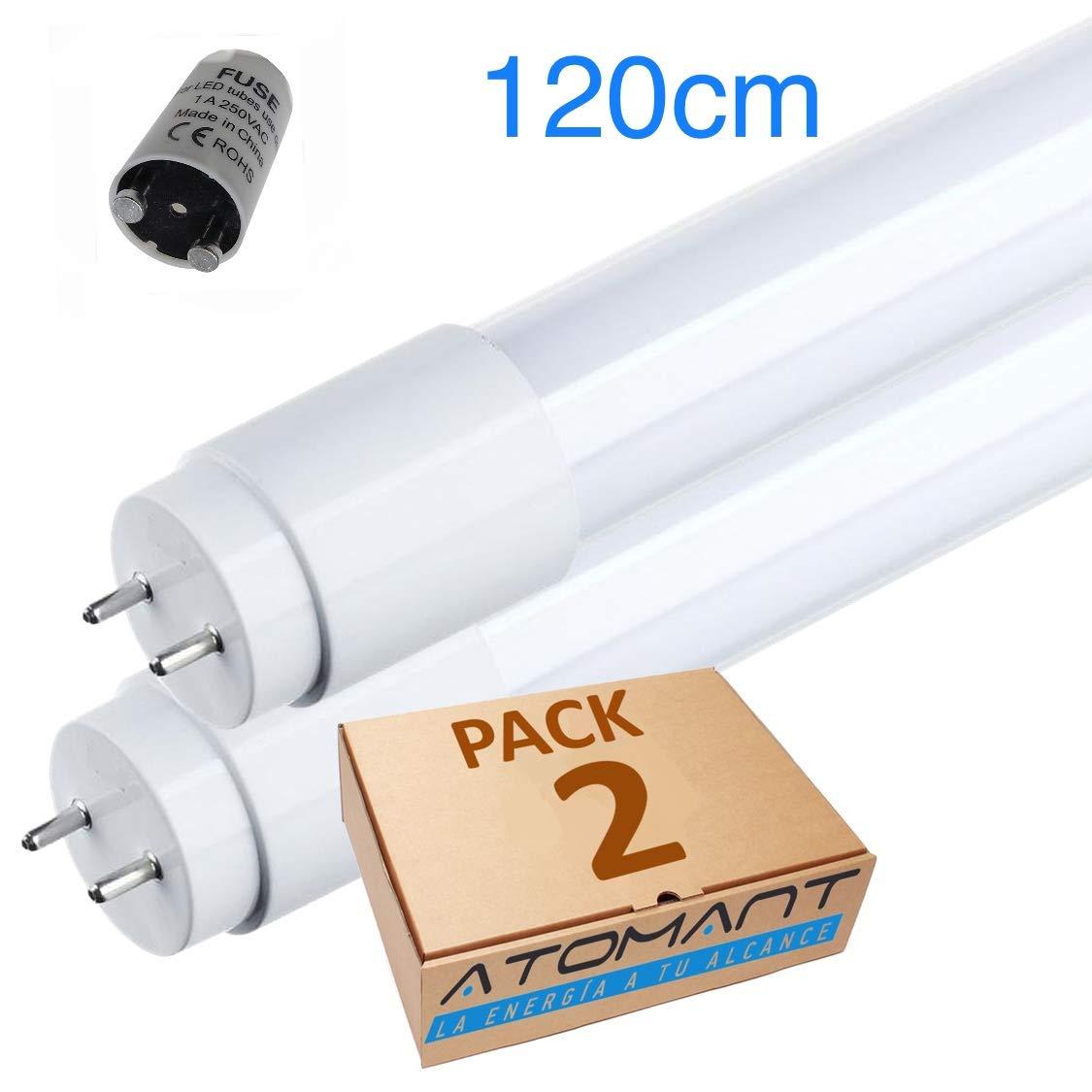 (LA) Tubo de LED 360 grados, 120cm, blanco frío (6500K)