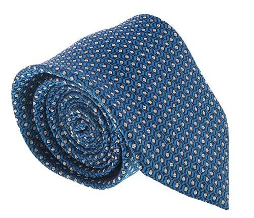 (Ermenegildo Zegna Turquoise Chain Link Tie for mens )