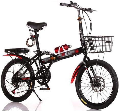 B-D Bicicleta De Montaña Plegable Bicicletas Plegables Frenos De Disco Doble Viaje Al Aire Libre Adecuado,para Estudiantes, Oficinistas, Entusiastas del Ciclismo.: Amazon.es: Deportes y aire libre