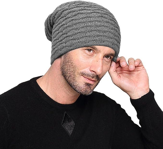 laxikoo Berretto Cappello Invernale Uomo Donna Beanie Berretti in Maglia con soffice Fodera Interna in Pile