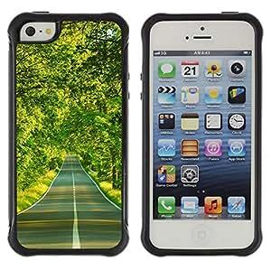 Suave TPU GEL Carcasa Funda Silicona Blando Estuche Caso de protección (para) Apple Iphone 5 / 5S / CECELL Phone case / / Forest road /