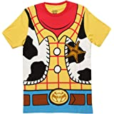 Toy Story Woody Cowboy Costume Banana Yellow Adult T-shirt tee