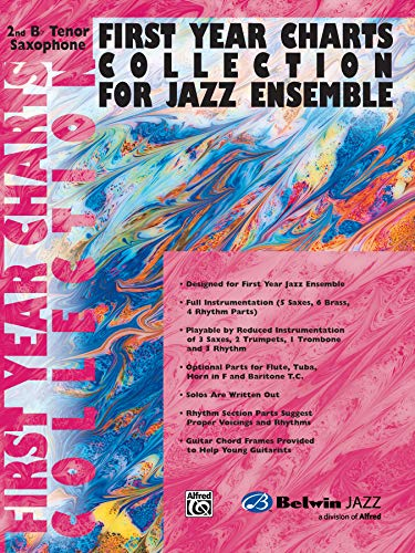 First Year Charts Collection for Jazz Ensemble: 2nd B-flat Tenor Saxophone