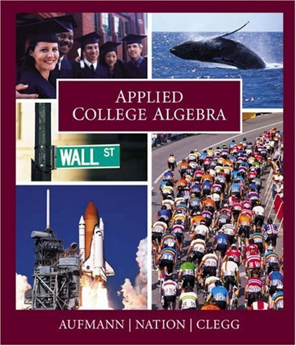Applied College Algebra