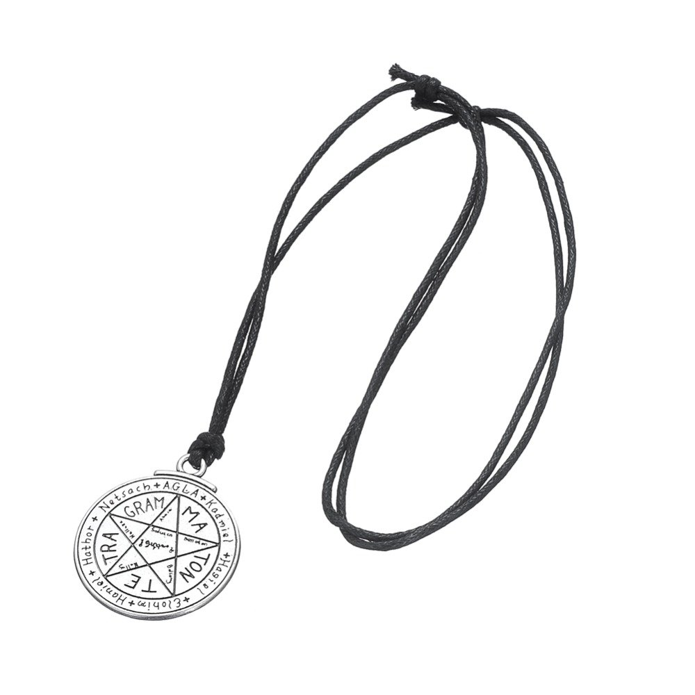 BORNmemo Wiccan Talisman for Love Tetragrammaton Seal of Solomon Pentacle Pendant Wiccan Necklace Jewelry