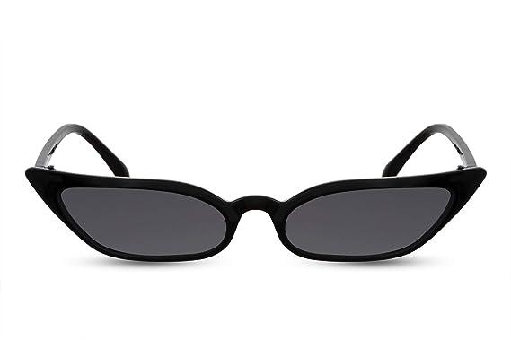 Cheapass Gafas de Sol Gran Montura Ojo de Gato Negras Mujer ...