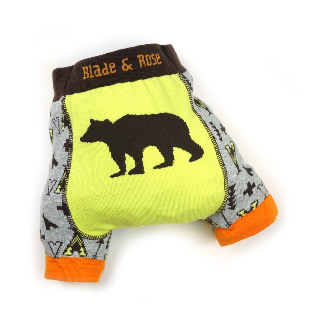 blade and rose Summer Shorts - Grizzly Bear Camping Design - 6-12 mths