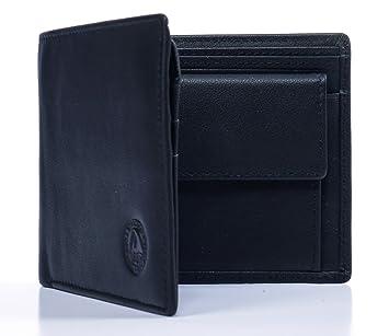 b709787872fc2 VEROLAGO Classic Trifold cp - Premium Herren Portemonnaie Geldbörse mit  Münzfach und RFID Blocker - Eleganter