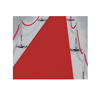 15ft Hollywood Party Red Carpet Scene Setter Fabric Floor Runner decoration, New: Toys & Games