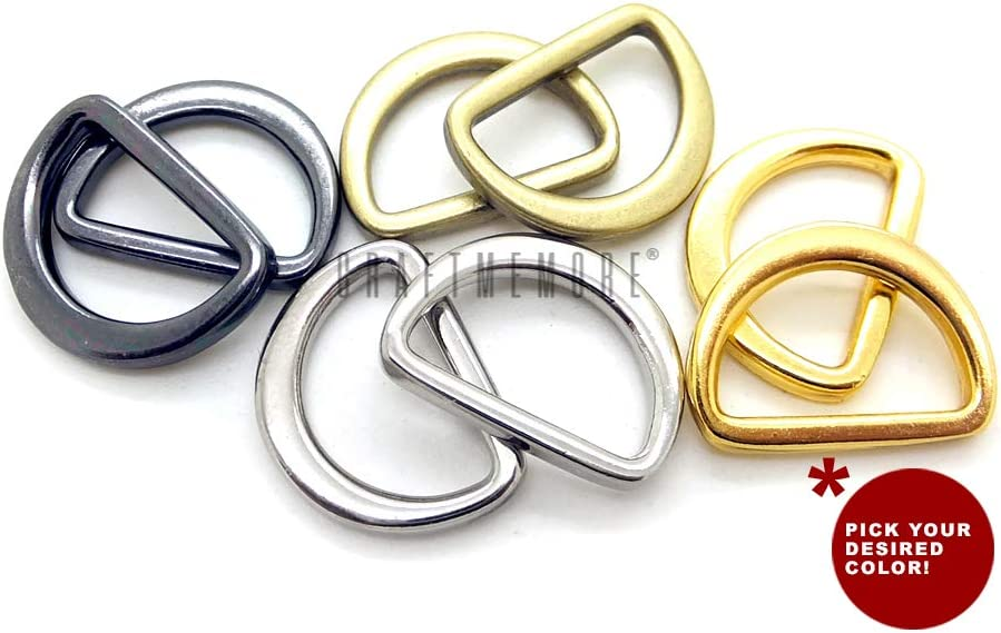 """New Antique Solid Brass Ring 2 Pack 1-1//4/"""""""