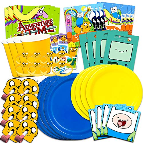 Adventure Time Party Supplies Ultimate Set -- Adventure Time Birthday Party Decorations, Party Favors, Plates, Napkins and More