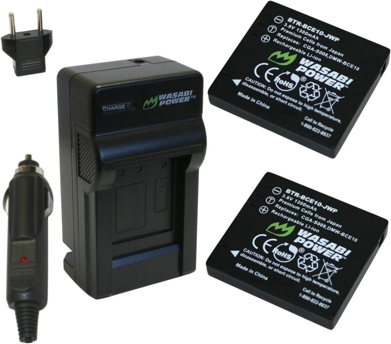 DMW-BCE10PP CGA-S008A CGA-S008E//1B LCD Micro USB Battery Charger for Panasonic Lumix CGA-S008 DMW-BCE10E CGA-S008A//1B VW-VBJ10E CGA-S008E VW-VBJ10 DMW-BCE10