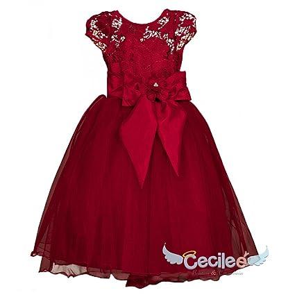 8cdece469 Vestido de niña para fiesta 077 (Rojo