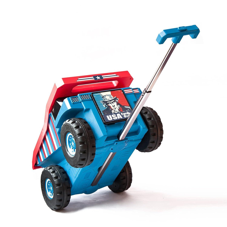 PUQU 子供 キャリーバッグ スーツケース バッグ 子供キャリーケース 車型 多機能 キッズ 幼稚園 かわいい 子供&キッズ&小学生 おもちゃ箱にも兼用して使用可能 18L B0728MZPYF  ブルー