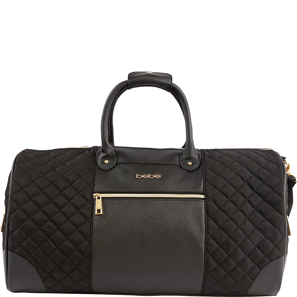 BEBE Women's Mandy Travel Weekender Bag, Black, One Size