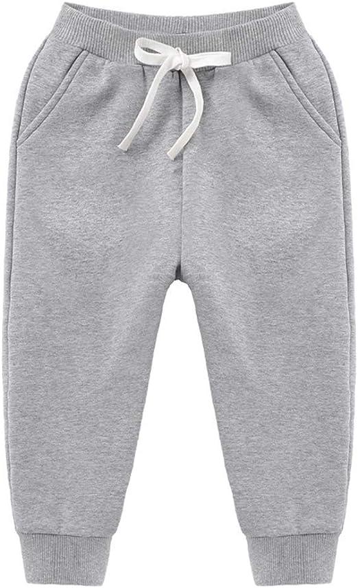 HAXICO Boys Solid Cotton Fleece Thicken Elastic Waist Winter Pants Kids Bottoms Active Sweatpants