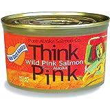 No Salt Added Thinkpink Wild Alaska Pink Salmon (12) 7.5oz Cans