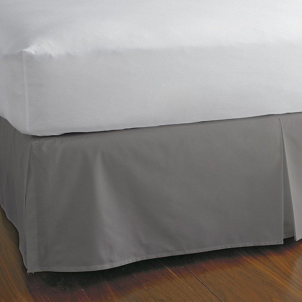 豪華な分割コーナーベッドスカート800スレッドカウント100 %エジプト30インチドロップby Kotton Cultureソリッド(アクアブルー、カリフォルニアキング) (可能なすべてのサイズと29色) Twin-XL シルバー 1SCBDSO308TCASilverTXL B072P1CMYJ シルバー Twin-XL