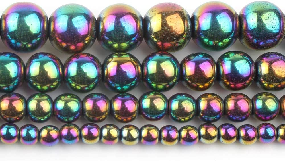 Song Xi 14K Gold Hematite Loose Beads for Jewelry Making 4mm 15inches Beads