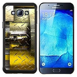 TECHCASE---Cubierta de la caja de protección para la piel dura ** Samsung Galaxy A8 ( A8000 ) ** --Resumen Diamante Acero
