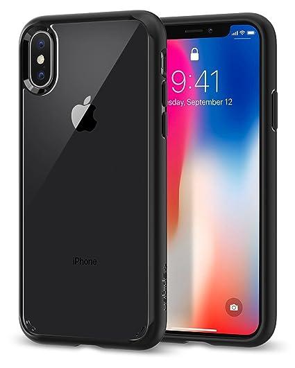 huge discount ec0d4 6444e Spigen Ultra Hybrid Designed for Apple iPhone X Case (2017) - Matte Black  (Renewed)