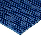 "Rubber-Cal 03-W246-BL-05 S-Grip PVC Runner - 3/16"" x 4' x 5' - Blue"