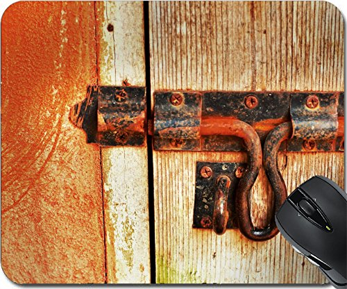 MSD Natural Rubber Mouse Pad Mouse Pads/Mat design 22185654 Bolt lock door vintage (716 Entrance)