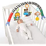 VX-star Baby Travel Play Arch Stroller/Crib Accessory,Cloth Animmal Toy and Pram Activity Bar with Rattle/Squeak…