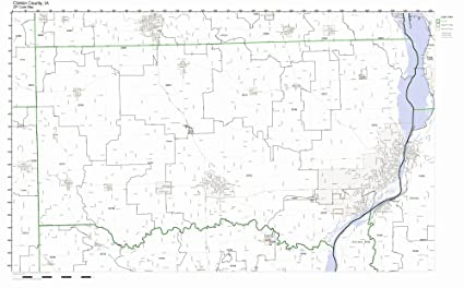 Amazon Com Clinton County Iowa Ia Zip Code Map Not Laminated Home