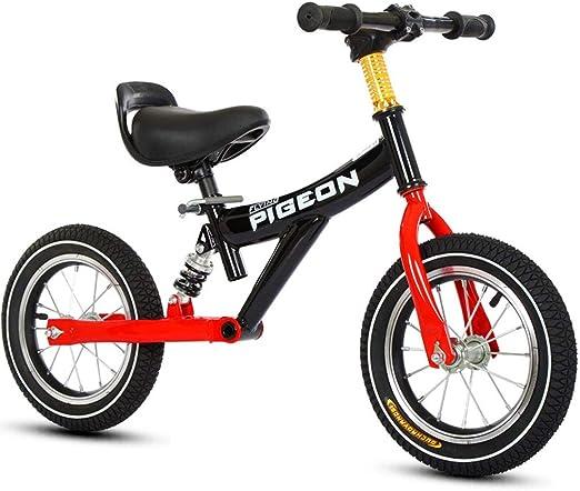 Bicicleta sin pedales Bici Bicicleta especializada en Equilibrio Negra - Ruedas de 12 Pulgadas Sin Pedales Bicicletas para niña/niño/niño, 1/2/3/4/5/6 años de Edad: Amazon.es: Hogar