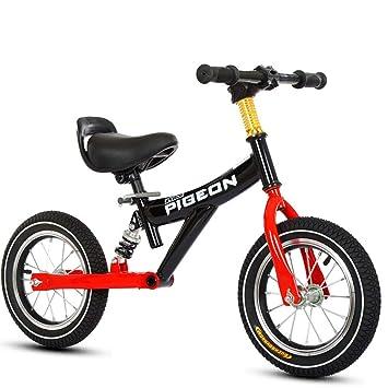 Bicicleta sin pedales Bici Bicicleta especializada en Equilibrio Negra - Ruedas de 12 Pulgadas Sin Pedales