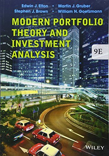 Modern Portfolio Theory and Investment Analysis by Wiley