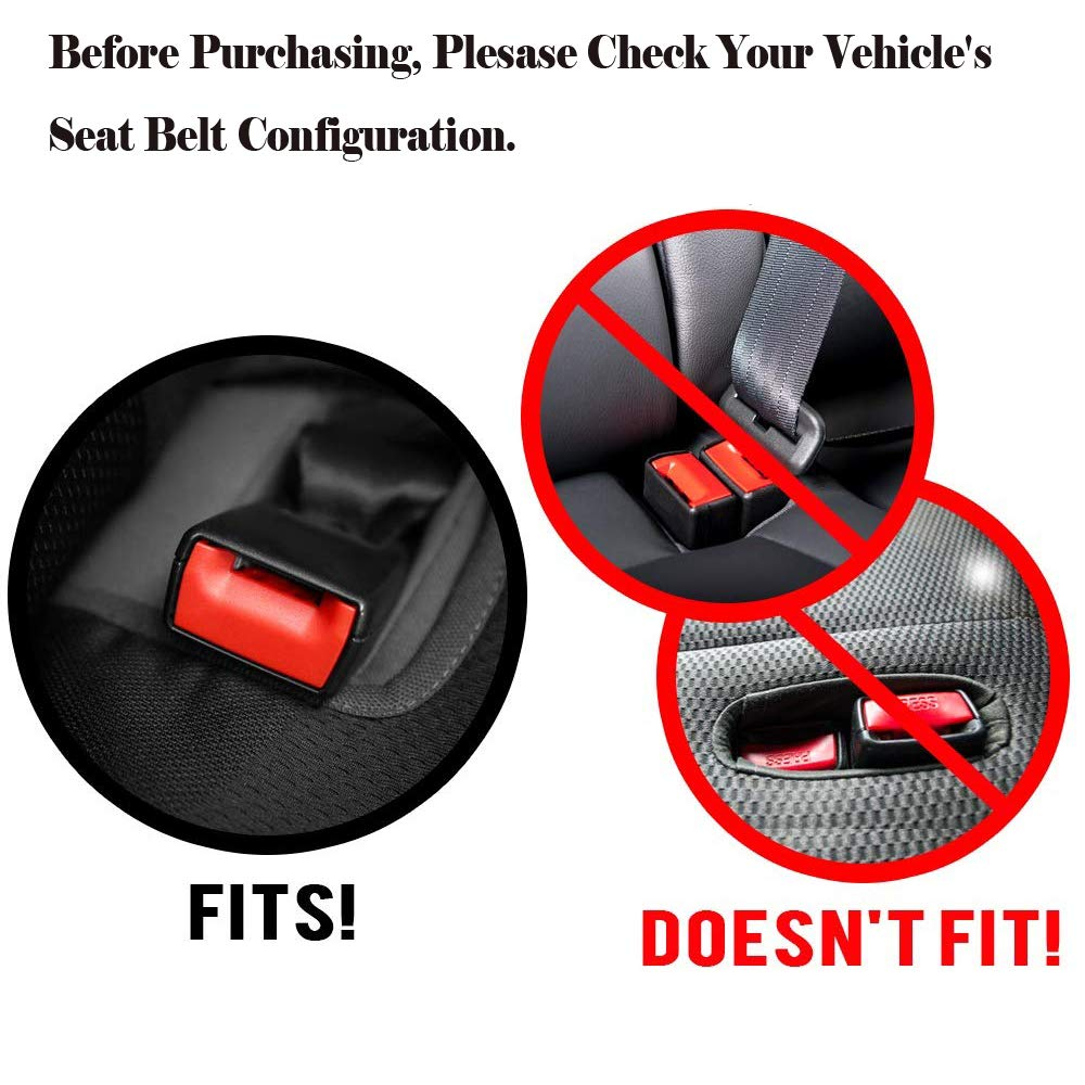 2 Pack Seat Belt Buckle Booster Holder Fits Most Vehicles Stop Fishing for Buried Seat Belts Makes Receptacle Stand Upright for Hassle Free Buckling Holds Seatbelt Buckle Upright