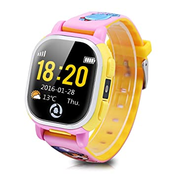Tencent QQ - Smartwatch Pulsera de Reloj Infantil (Cámara, GPS, LBS, Wifi